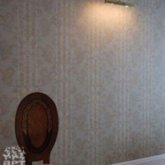 Фламандка, роспись через трафарет