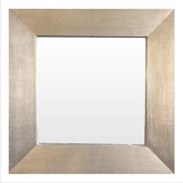 Зеркало в квадратной деревянной раме. Старинное серебро