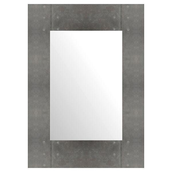 Зеркало Лофт. Рама — имитация черного клепаного металла