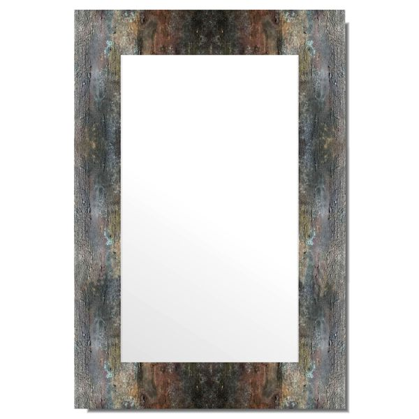 Зеркало Лофт. Рама — имитация окисленного металла