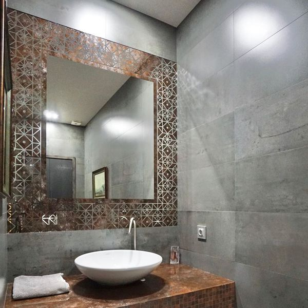 Зеркало C декоративной покраской Окисленный металл