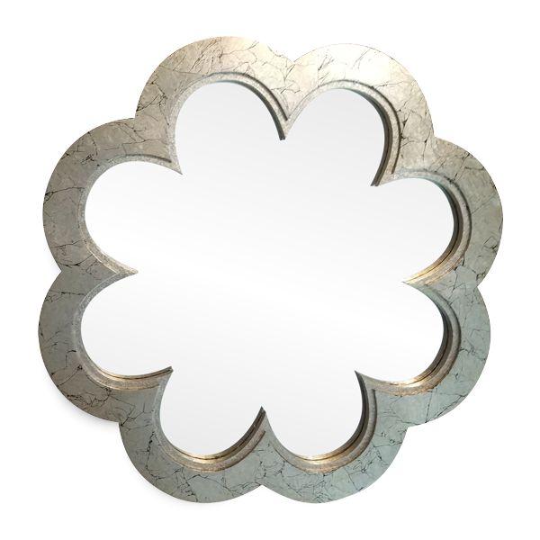 Зеркало Цветок в серебряной / золотой раме.