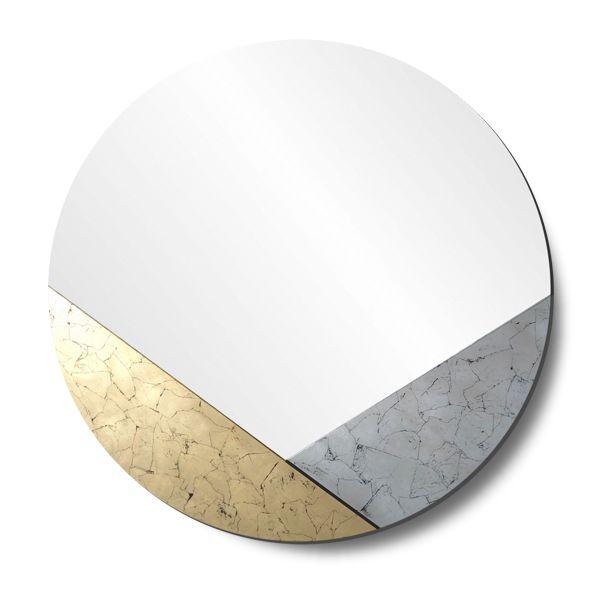 Зеркало с геометрическим декором