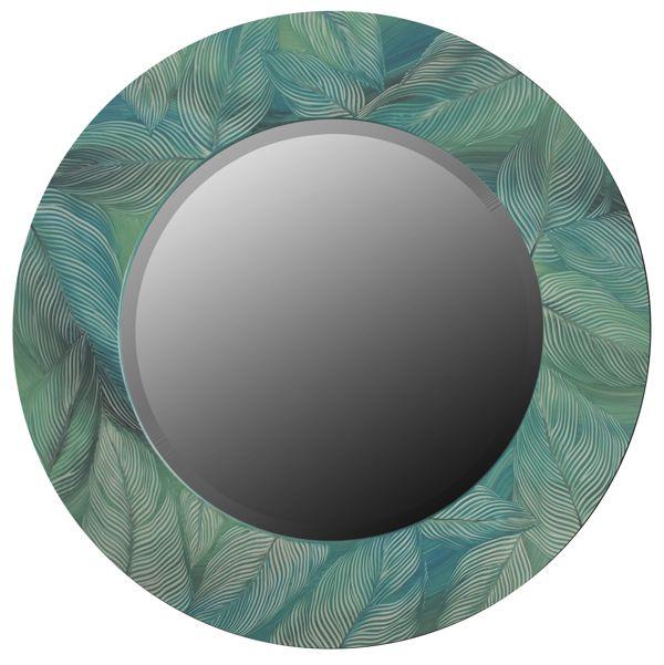 Зеркало в круглой раме с росписью
