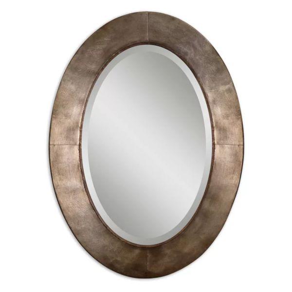 Круглое зеркало Лофт рама бронзовое литье