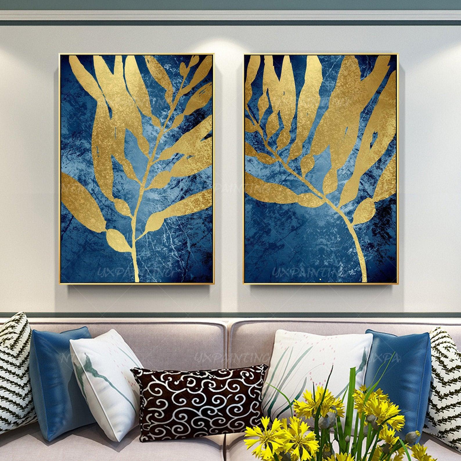 Модульная интерьерная картина Золотые листья