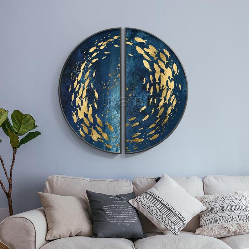 Модульная интерьерная картина Золотое море
