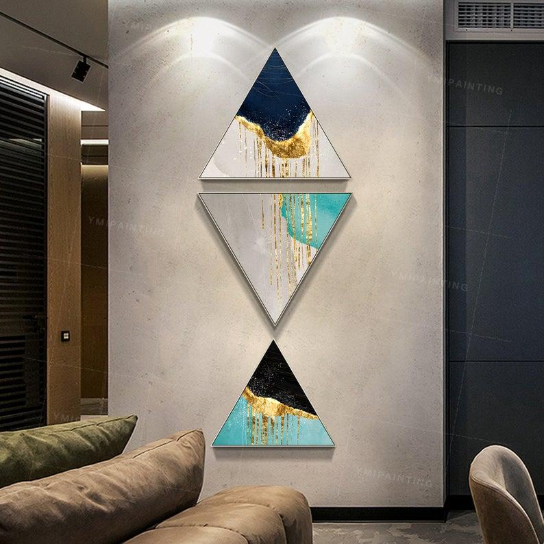 Модульная интерьерная картина Треугольник